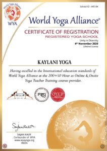 World Yoga Alliance Zertifikat